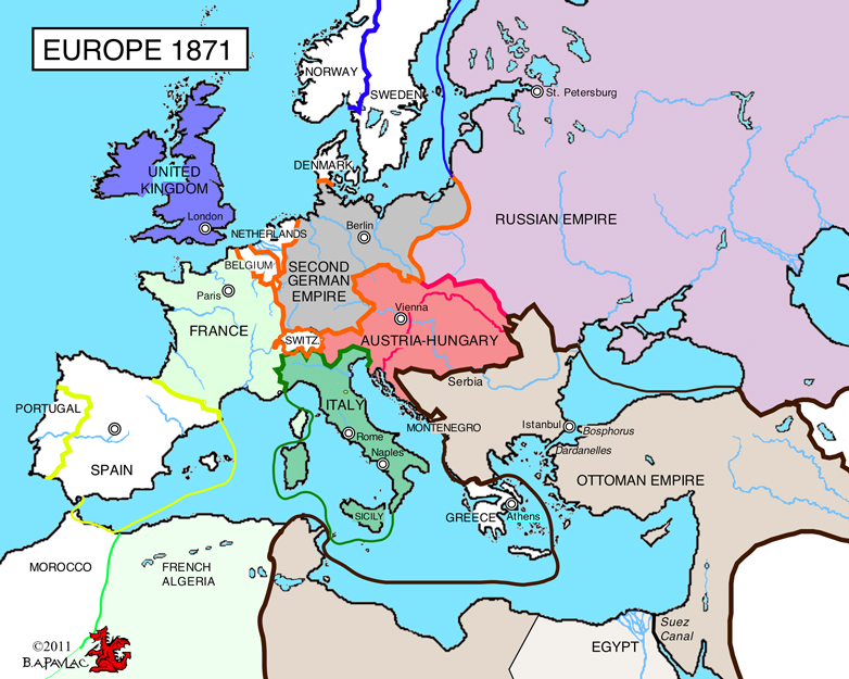 ConciseWesternCivcom - Europe map 1871 1914